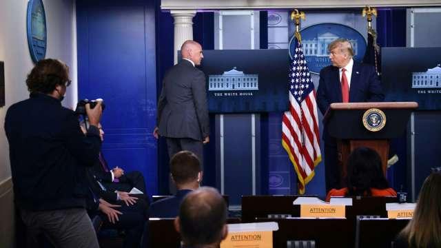 最新!白宮外突發槍擊事件 川普緊急撤離。(圖片:AFP)