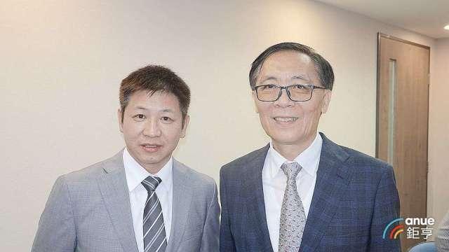 牧德總經理陳復生(左)及董事長汪光夏。(鉅亨網記者張欽發攝)