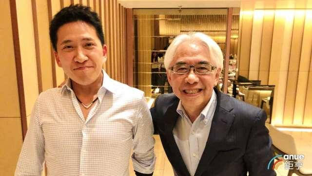左為神盾財務長張家麒、右為董事長羅森洲。(鉅亨網資料照)