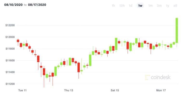 比特幣過去一週走勢 (圖表取自 coindesk)