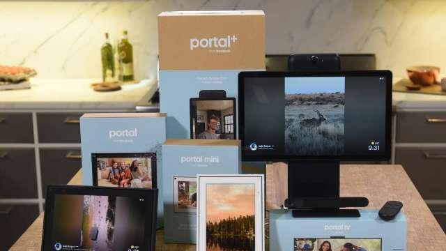 臉書視訊通話設備Portal將廣納Zoom等各家視訊會議app(圖片:AFP)