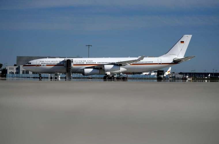 德國政府使用中的 A340 行政專機 (圖片:AFP)