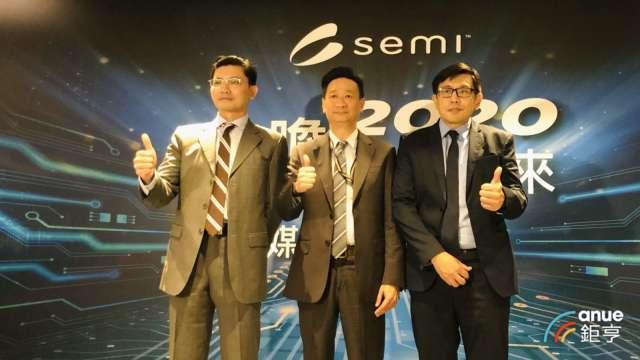 右起為SEMI台灣區總裁曹世綸、Deloitte合夥人陳兆臨、SEMI產業分析總監曾瑞榆。(鉅亨網資料照)