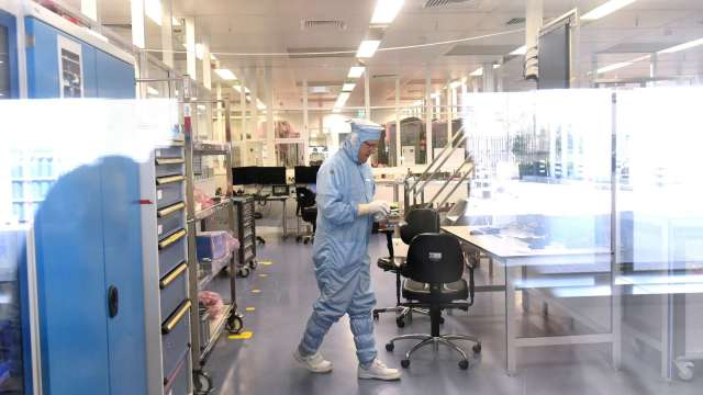 台積電今年第四度買廠房 機電工程業者營運進補。(圖:AFP)
