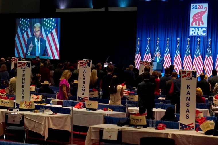 美國總統川普獲得 2020 年共和黨總統候選人的正式提名。(圖片:AFP)