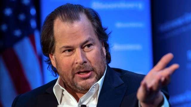 〈財報〉Salesforce雙喜報到 上修全年財測、納入道瓊 盤後大漲13% (圖:AFP)