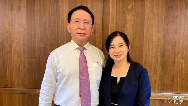 左為永昕董事長林榮錦、右為總經理陳佩君。(鉅亨網記者沈筱禎攝)