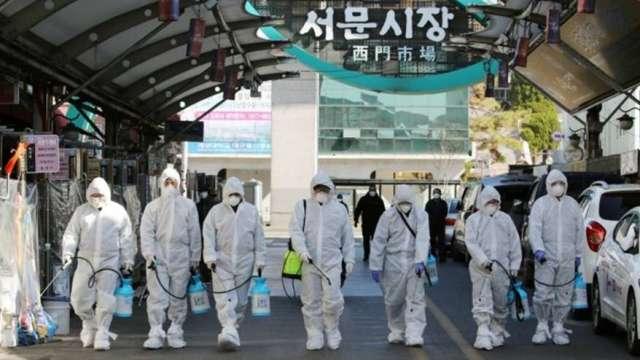 防傳染擴散 南韓政府敦促企業讓員工居家辦公(圖:AFP)