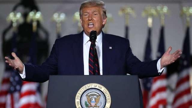 再喊美國製造!川普提名演說:若連任將對海外美企徵新關稅。(圖片:AFP)