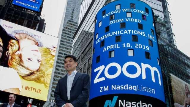 〈財報〉Zoom Q2營收年增355% 刺激盤後股價飆漲25%(圖片:AFP)