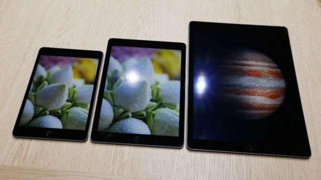 蘋果iPad訂單回歸台廠觸控雙雄分食,TPK-KY一度亮燈漲停。(圖:AFP)