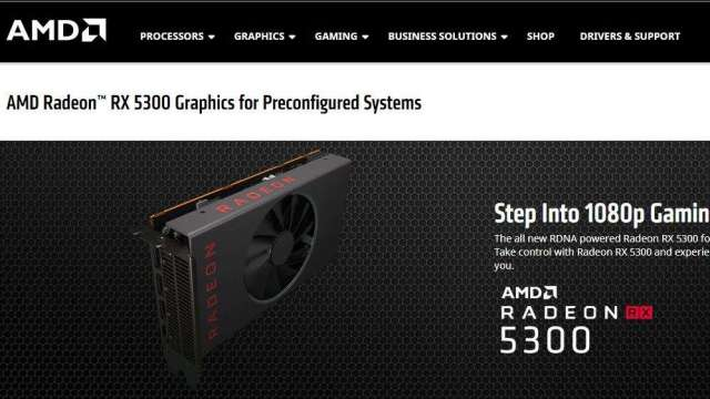 AMD推新款入門級顯示卡 週一收盤大漲逾6%(圖:AMD官網)