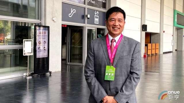 友達董事長彭双浪首次以台北市電腦公會理事長身分受訪。(鉅亨網記者劉韋廷攝)