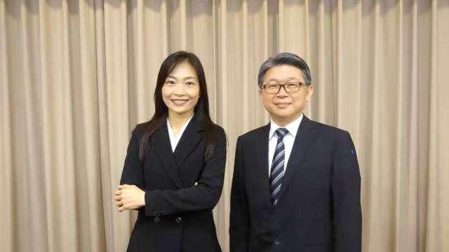 明泰董事長黃文芳(左)及總經理林裕欽。(圖:明泰提供)