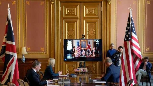 英、美新一輪貿易協商9月8日展開 11月大選前啟動全方面談話 (圖:AFP)