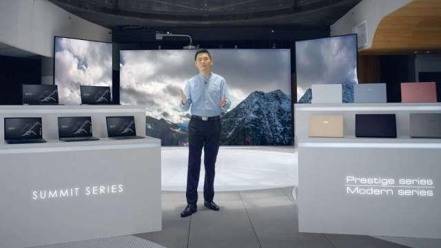 微星將跨足商務型筆電市場,圖為微星筆電業務暨行銷處總監陳禮群。(圖:微星提供)
