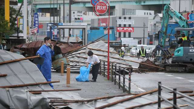 海神肆虐日本九州 索尼CMOS、豐田汽車等生產暫停 (圖片:AFP)