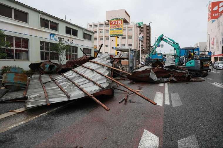 海神肆虐日本九州 (圖片:AFP)