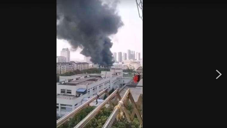 欣興轉投資昆山鼎鑫電子今日上午也傳出火警。(圖:讀者提供)
