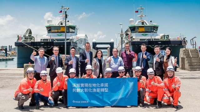 沃旭能源已簽署合約租用5艘人員運輸船(CTV),組成台灣籍CTV船隊。(圖:沃旭提供)