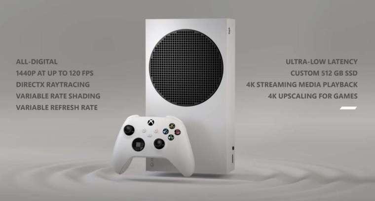 微軟新一代電玩主機Xbox Series S (圖片來源:擷取自Xbox官方YouTube頻道)