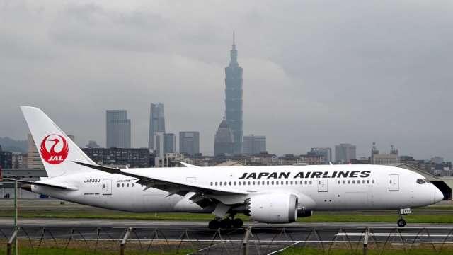商務需求增加 日航10月重啟每週三班的台北-東京航班 (圖片:AFP)