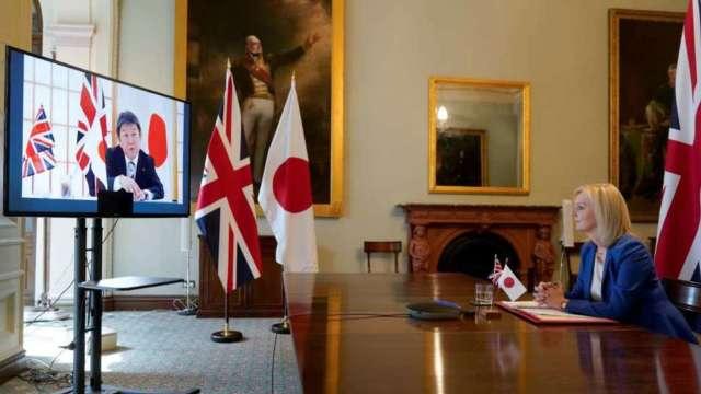 英國、日本達成原則性貿易協議 99%英輸日商品免關稅 (圖:AFP)