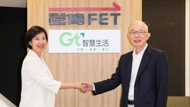 圖左為遠傳總經理井琪,右為亞太電總經理黃南仁。(圖遠傳提供)