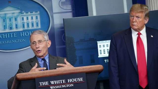 川普稱疫情將結束?福奇:統計數據仍令人不安(圖片:AFP)