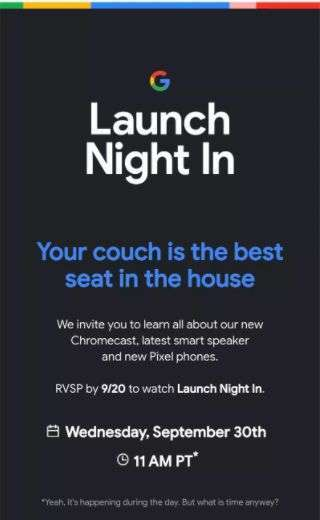 「Launch Night In」邀請函 (圖片: The Verge)