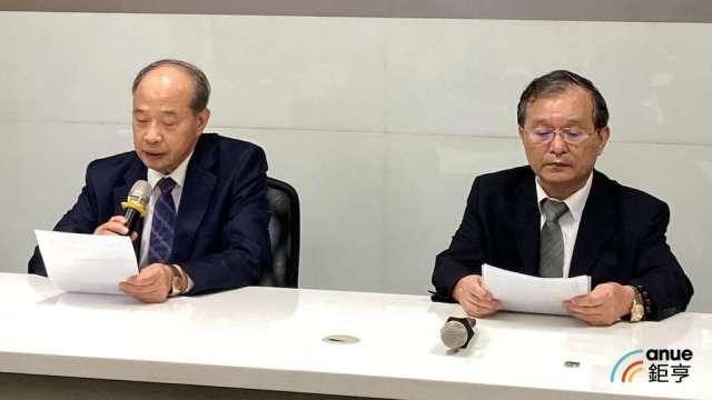 台泥副總經理黃健強(左)及信昌化總經理趙天福。(鉅亨網資料照)