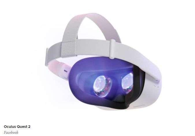 Oculus Quest 2 頭戴式 VR 裝置 (圖片: CNBC)