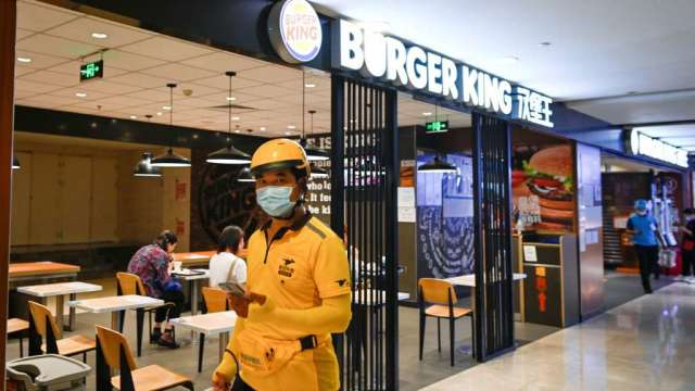 傳漢堡王中國業務所有權人 正考慮出售中國業務一半股份(圖:AFP)