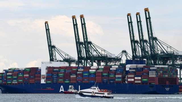 新加坡8月份出口年增7.7% 高於市場預期(圖片:AFP)