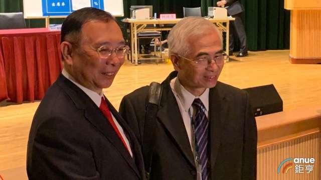 台鋼集團會長謝裕民(左)及友訊董事長李中旺。(鉅亨網資料照)
