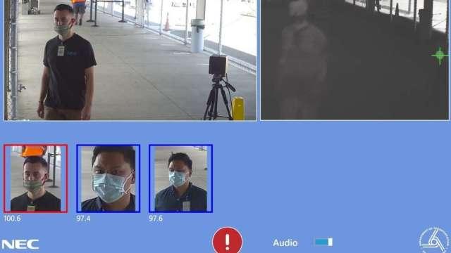 NEC溫度檢測、人臉辨識打進夏威夷機場 奪下10.9億元大單。(圖:NEC台灣提供)