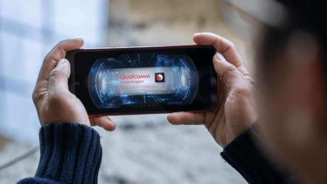 高通Snapdragon 750G 5G行動平台。(圖:AFP)