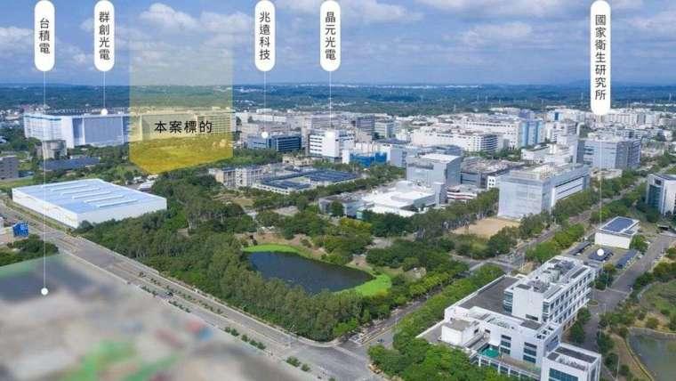 高力國際受託公開標售的竹科竹南園區約1.19萬坪所有權工業土地所有權示意圖。(圖:高力國際提供)