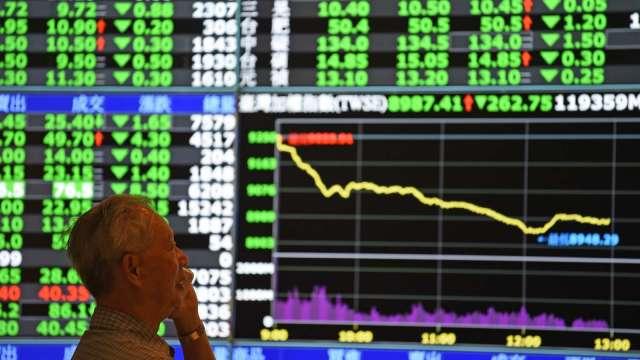 台股急殺逾300點 外資狂倒貨 三大法人賣超487億元。(圖:AFP)