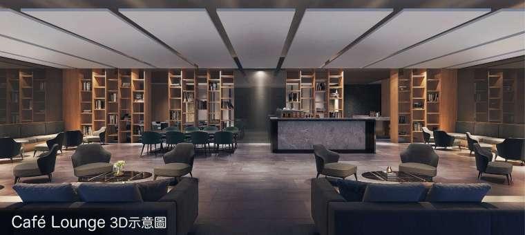 café Lounge 讓企業主能有空間接待客戶,員工休憩。圖 / 興富發提供