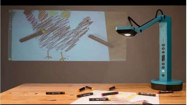實物攝影機可應用於遠距繪畫教育課程。(圖:能率網通提供)