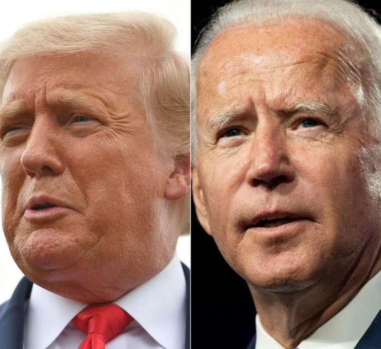 週二 (29 日) 美國總統大選候選人川普、拜登將舉辦首場辯論會 (圖片:AFP)