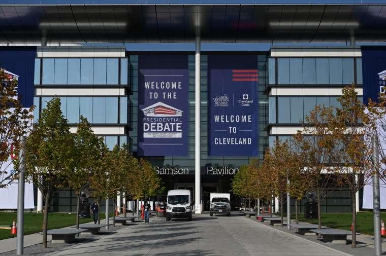首場大選辯論週二在克利夫蘭市登場 (圖片:AFP)