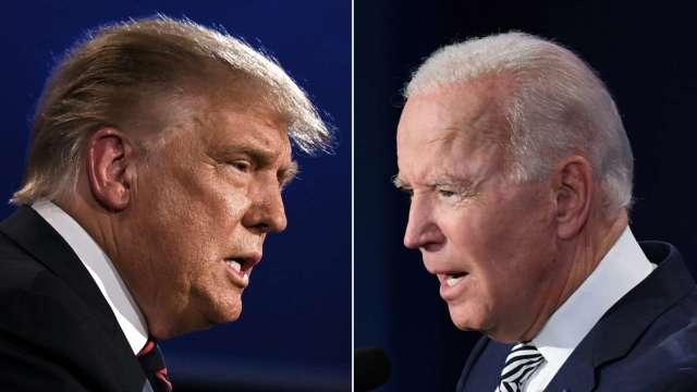 川普、拜登吵開!美大選首場辯論就防疫、避稅交鋒 (圖:AFP)