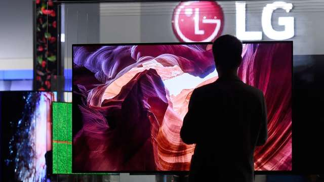 LG廣州8.5代廠7月投產 Q3電視用OLED面版行情下滑5% (圖片:AFP)