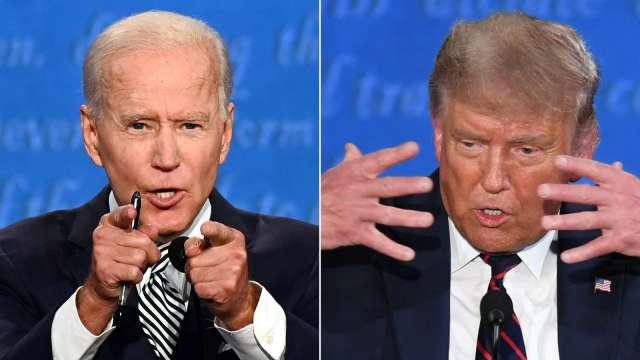 美媒評美大選首場辯論「一片混亂」 一文掌握川普、拜登重點發言 (圖:AFP)