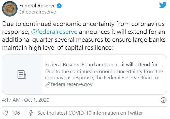 取自 Fed 推特。