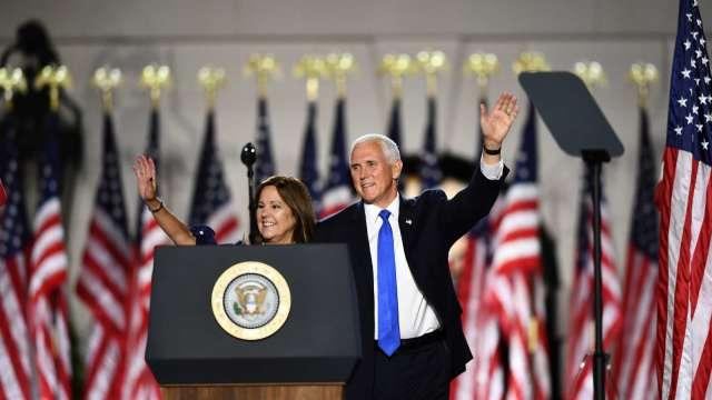 美國副總統彭斯夫婦病毒檢測結果呈陰性 (圖:AFP)