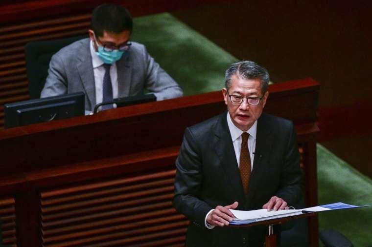 香港財政司司長陳茂波 (圖片: AFP)