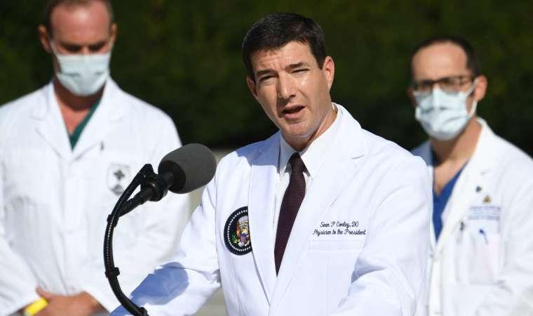 白宮醫生 Sean Conley 週一受訪時表示,川普已達出院標準,但尚未完全康復 (圖片:AFP)